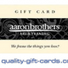 $100 Aaron Brothers Gift Card $81