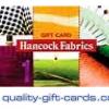 $100 Hancock Fabrics Gift Card $98